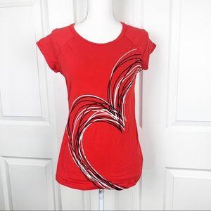 Ideology Red Heart Short Sleeve Shirt